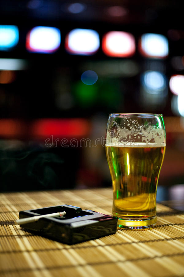 Download Beer and cigarette stock image. Image of alcohol, drink - 19886567