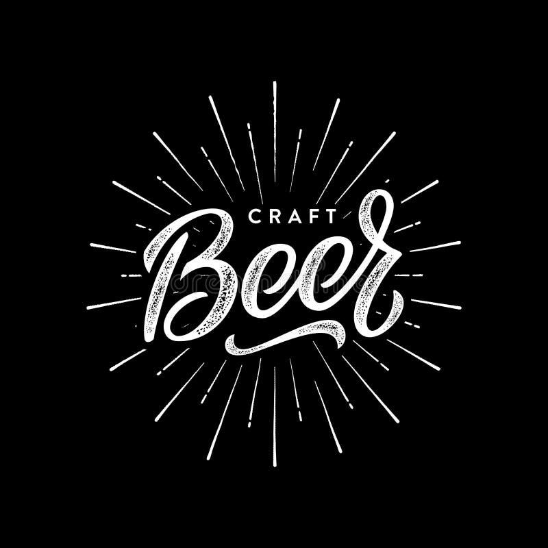 Beer craft black stock illustration