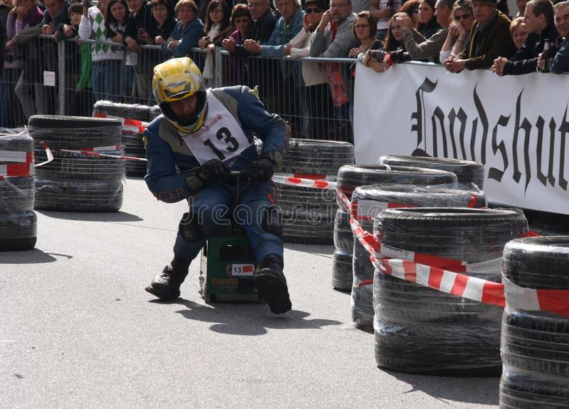 Beer Crate Racing Editorial Stock Photo