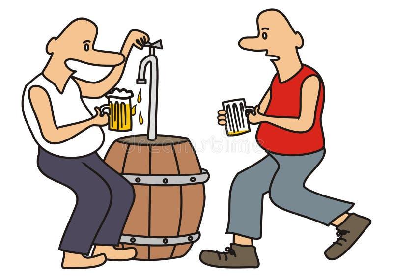 Beer drinkers, vector illustration royalty free illustration