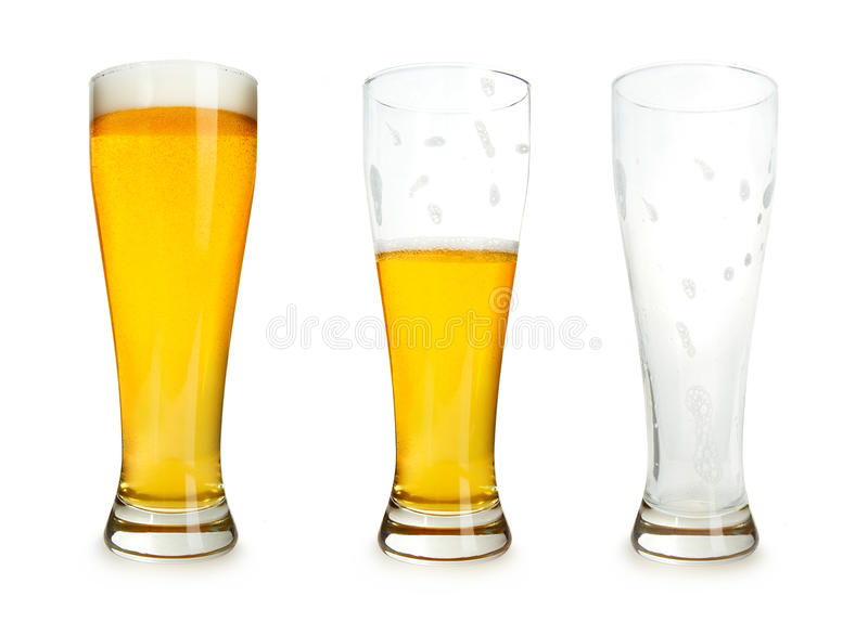 Download Beer Drinking Stages stock image. Image of pilsner, isolated - 13834389