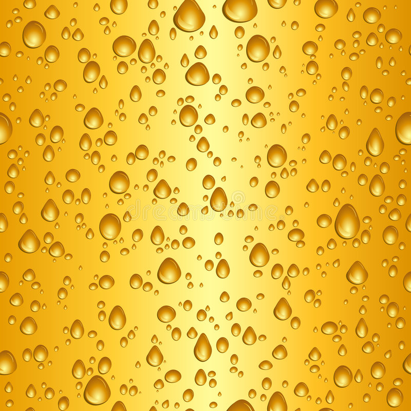 Beer drops royalty free illustration
