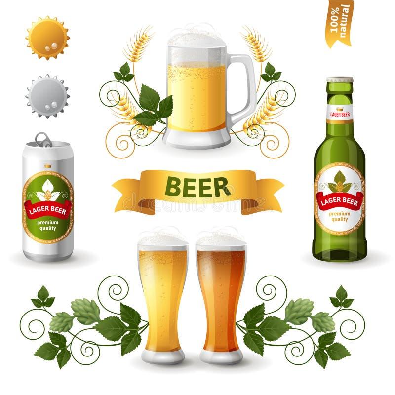 Beer emblems vector illustration