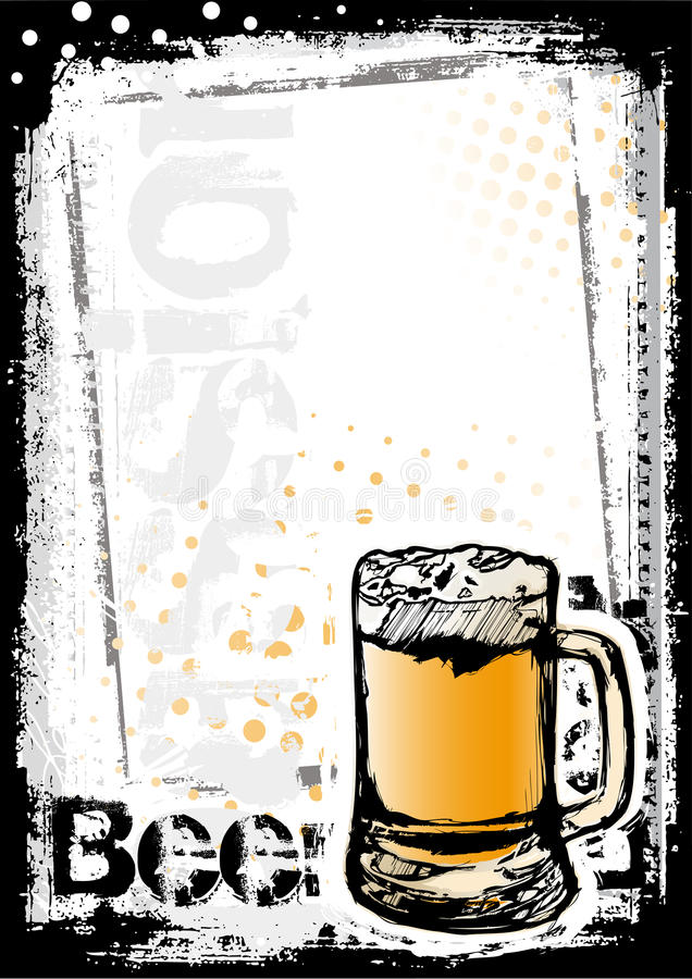 Beer fest poster background royalty free illustration