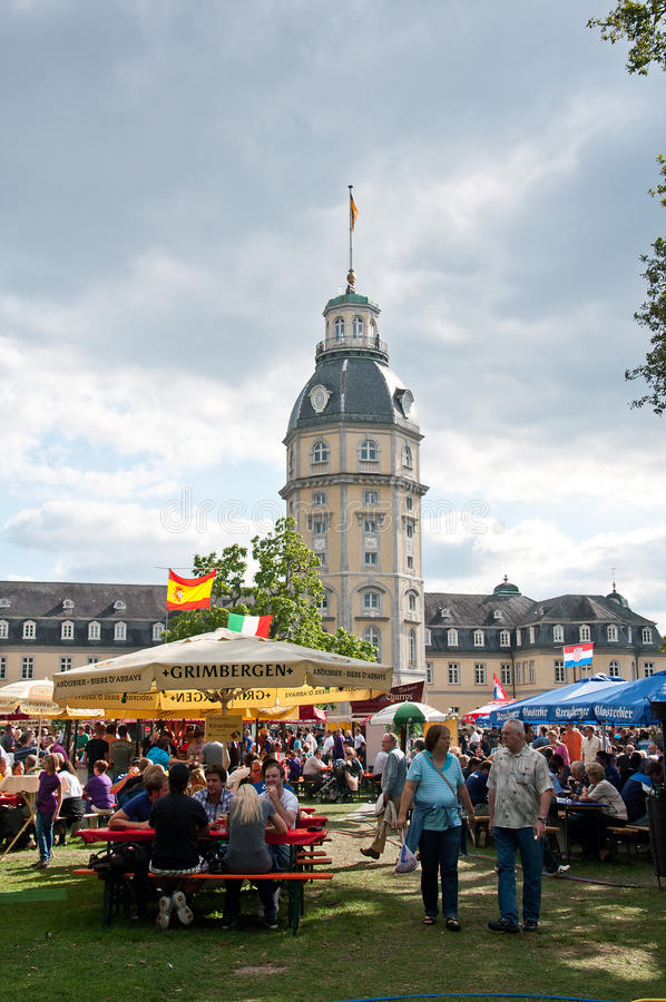 Beer festival in Karlsruhe, Germany. The 11th annual Karlsruhe edition of Bierboerse is a part of a series beer festivals in Germany stock image