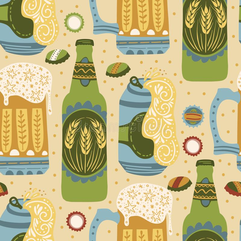 Beer festival vector illustration. Oktoberfest stock image