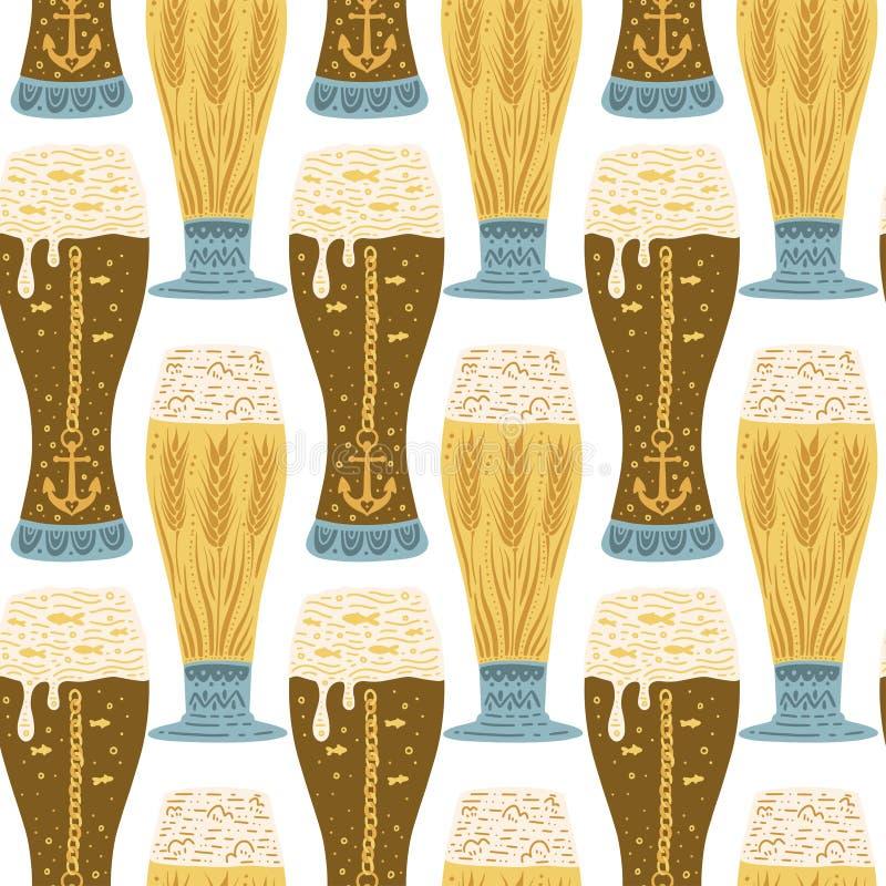 Beer festival vector illustration. Oktoberfest royalty free stock photos