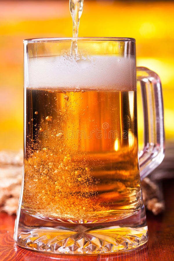 Beer filling up royalty free stock photo