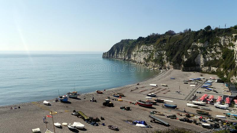 Beer. A fishing village popular with tourists to Devon in South West England stock photo