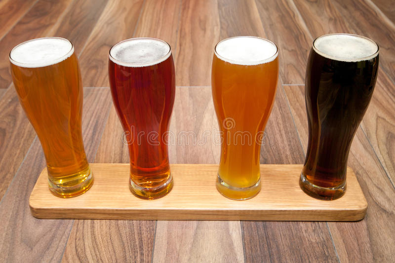 Beer Flight. royalty free stock images
