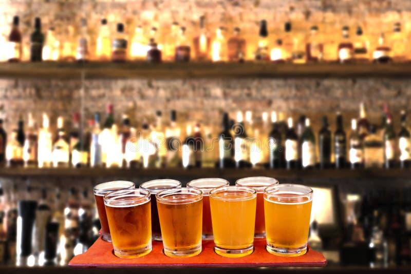Beer flight stock image