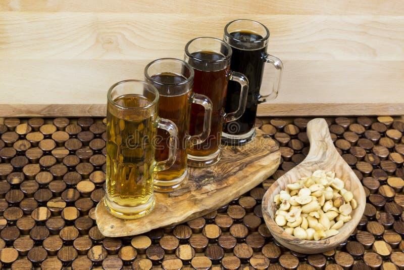 Beer flight stock images