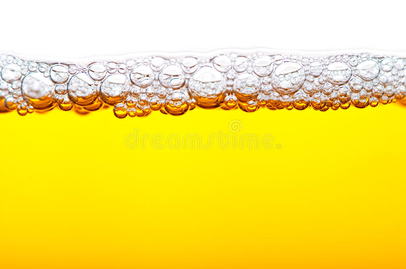 Beer with foam royalty free stock photos