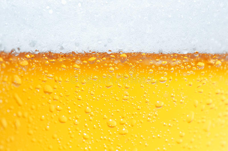 Beer an Foam. stock photo