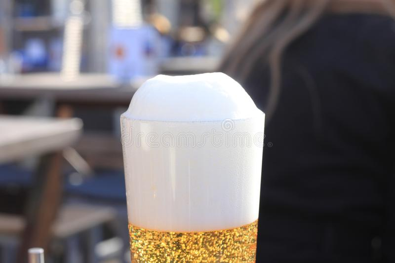 Beer with foam royalty free stock photo