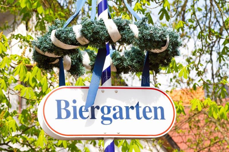Beer garden stock images