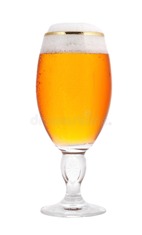 beer glass arkivfoto