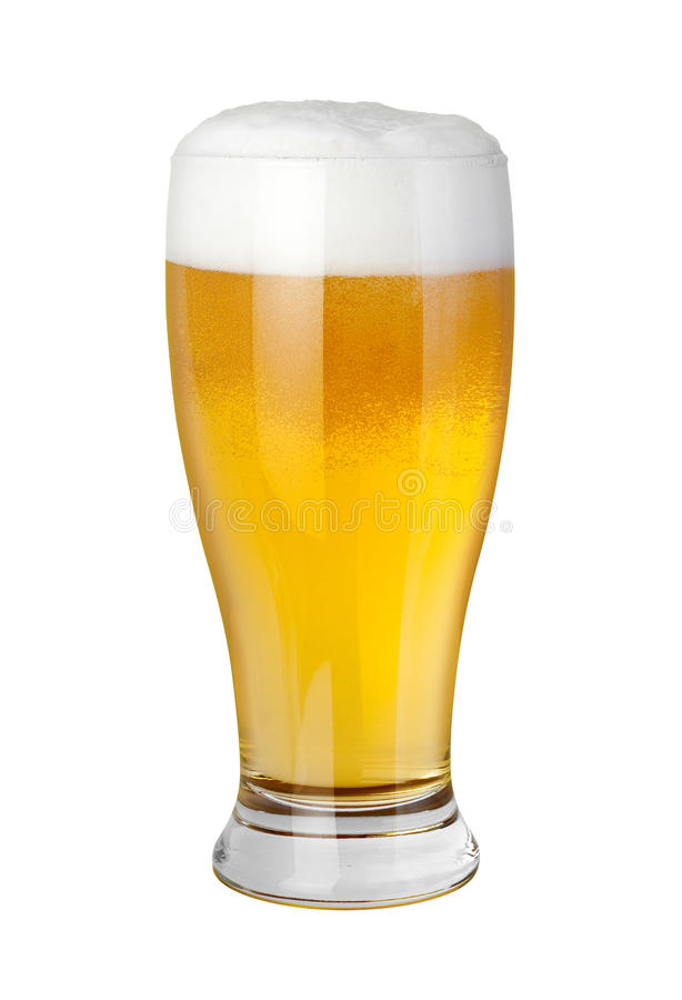 Beer Glass with clipping path. Beer Glass isolated on a white background with a clipping path. Isolation is on a transparent layer in the PNG format royalty free stock photo