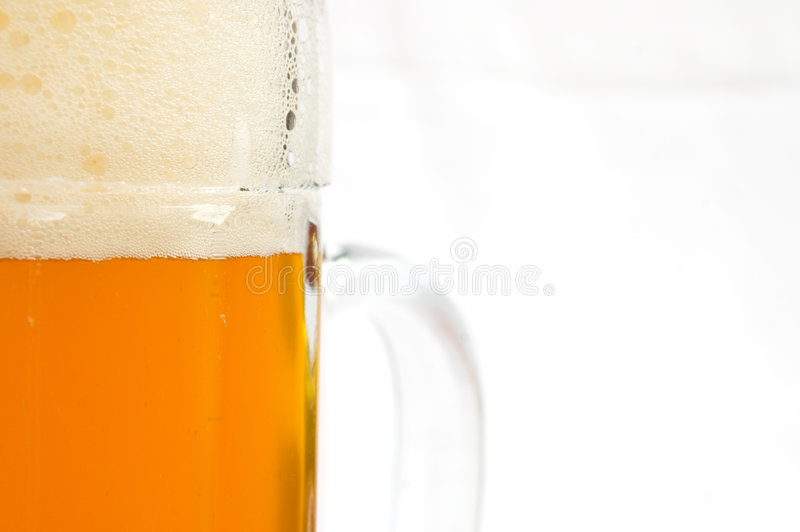 Beer glass abstract royalty free stock photo