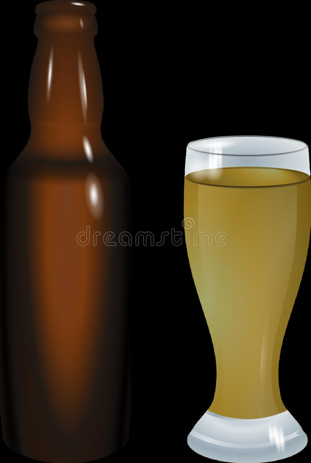 Beer Glass, Bottle, Beer Bottle, Pint Glass royalty free stock photography