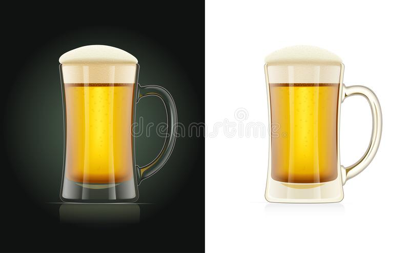 Beer glass. Brewery cup. Octoberfest holiday drink. vector illustration