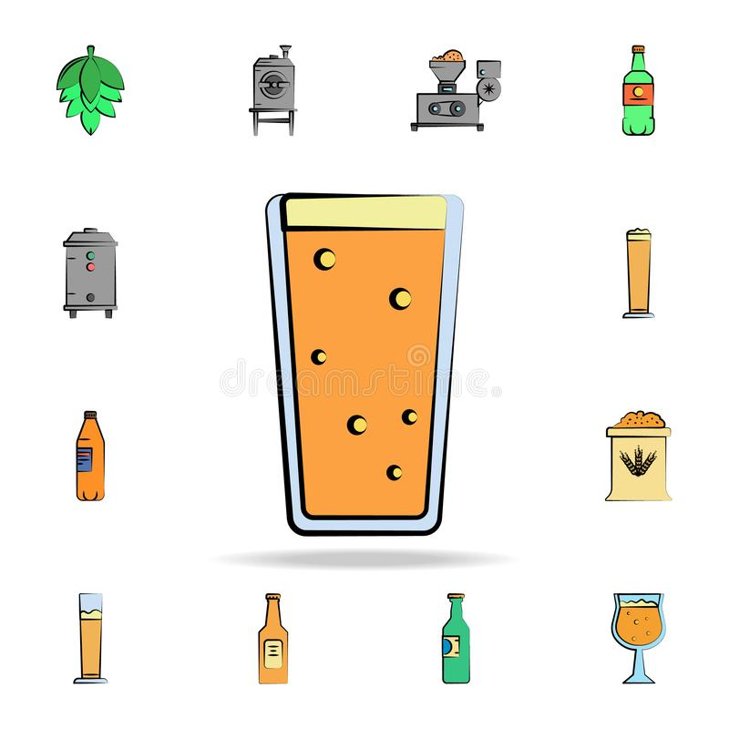 Beer glass colored sketch style icon. Detailed set of color beer in hand drawn style icons. Premium graphic design. One of the. Collection icons for websites stock illustration
