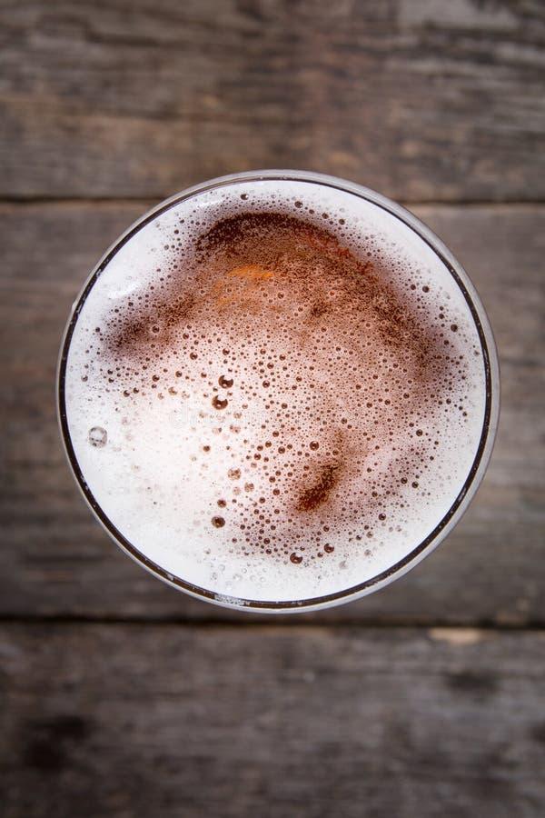 Beer in glass. Beer foam. stock photo