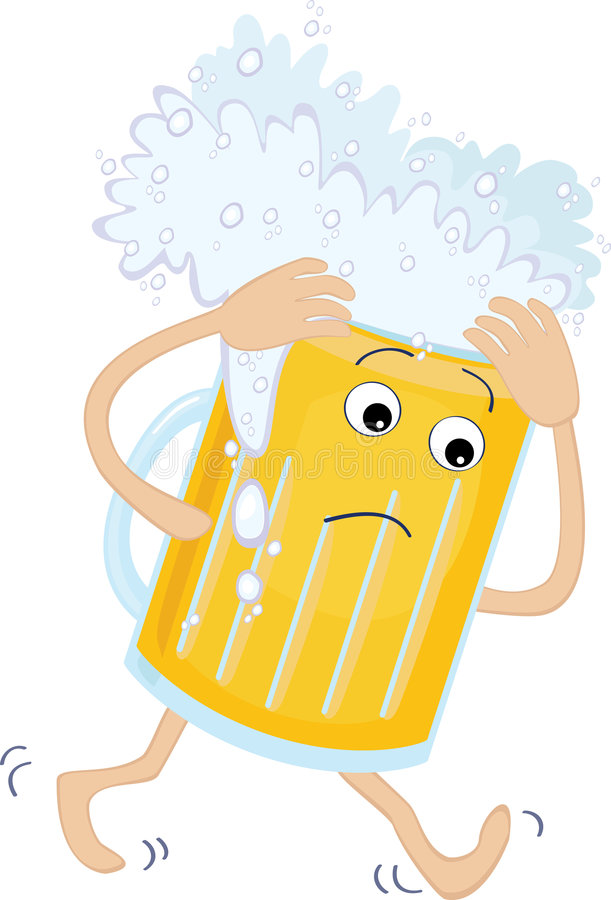 Download Beer Glass With A Headache Royalty Free Stock Image - Image: 9044016