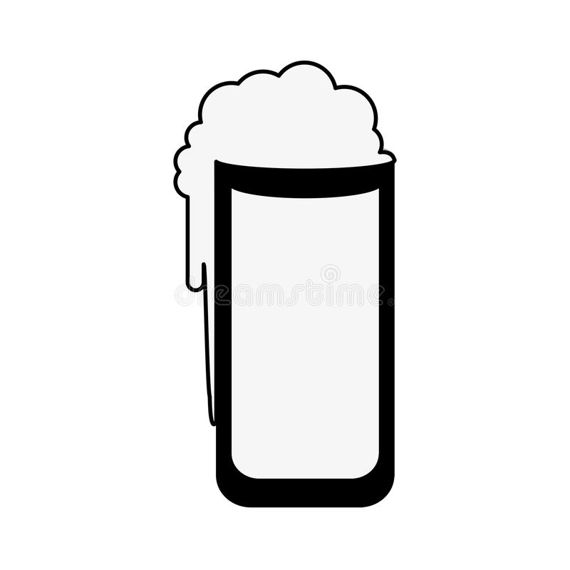 Beer glass icon image. Vector illustration design royalty free illustration