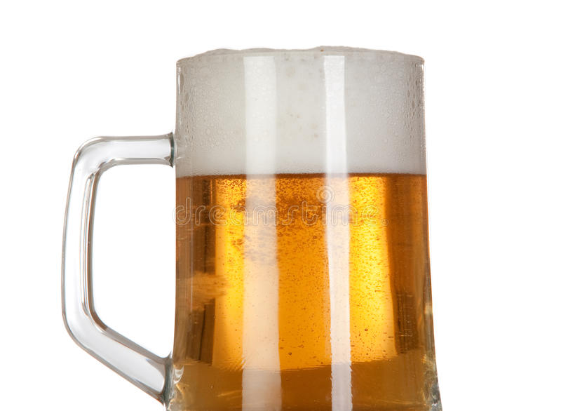 Download Beer in a glass jar stock image. Image of lager, liquid - 12505305