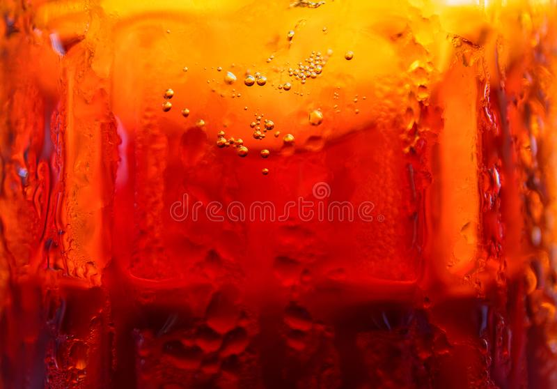 Beer in glass, macro photo. Draft beer in glass texture. Beer lover wallpaper. Cold drink glass melting. stock images