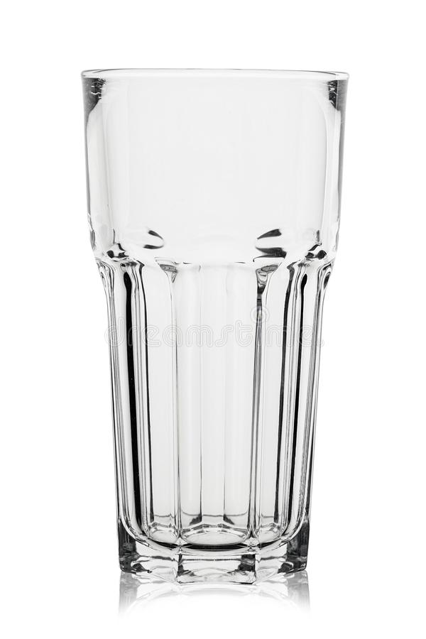 Beer glass place for text. Empty beer glass isolated on white background. file contains clipping path stock photo