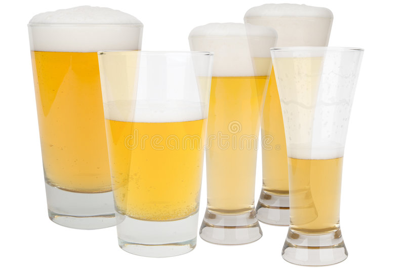 Download Beer glasses stock image. Image of isolated, cold, background - 2130281