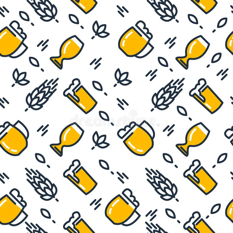 Free Beer Glasses Seamless Pattern Stock Images - 214783234