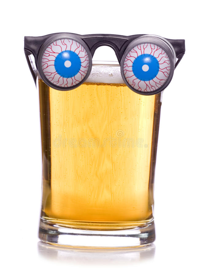 Beer googles. On a white background stock photography