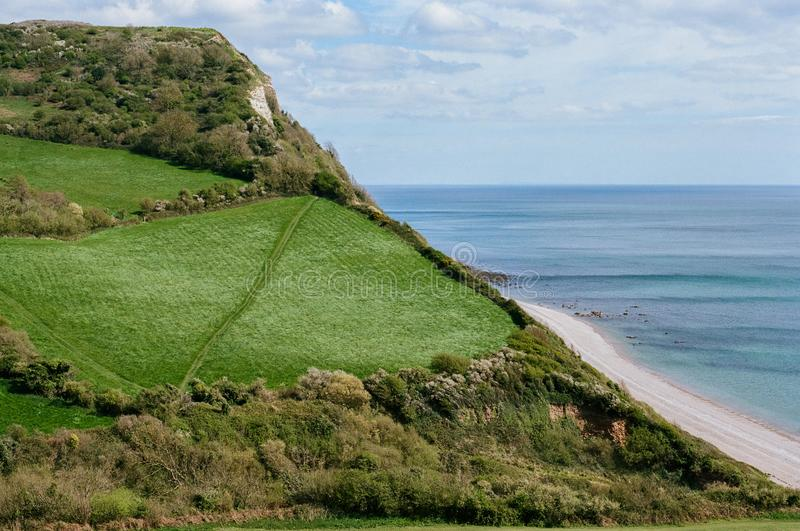 Beer Head in Devon, UK royalty free stock image