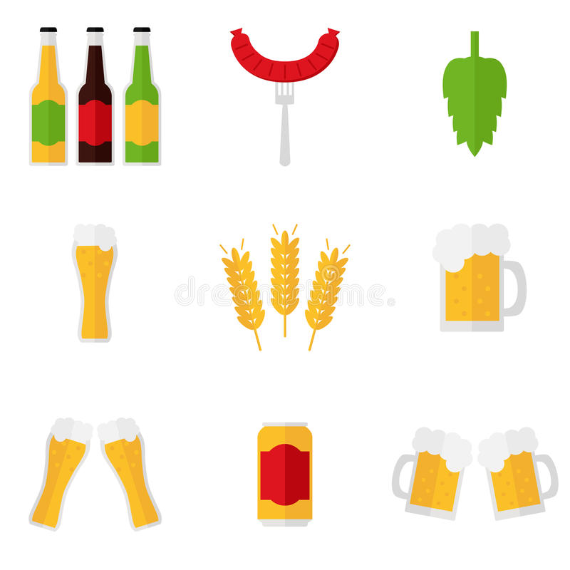 Beer icons isolated on white background. stock photos