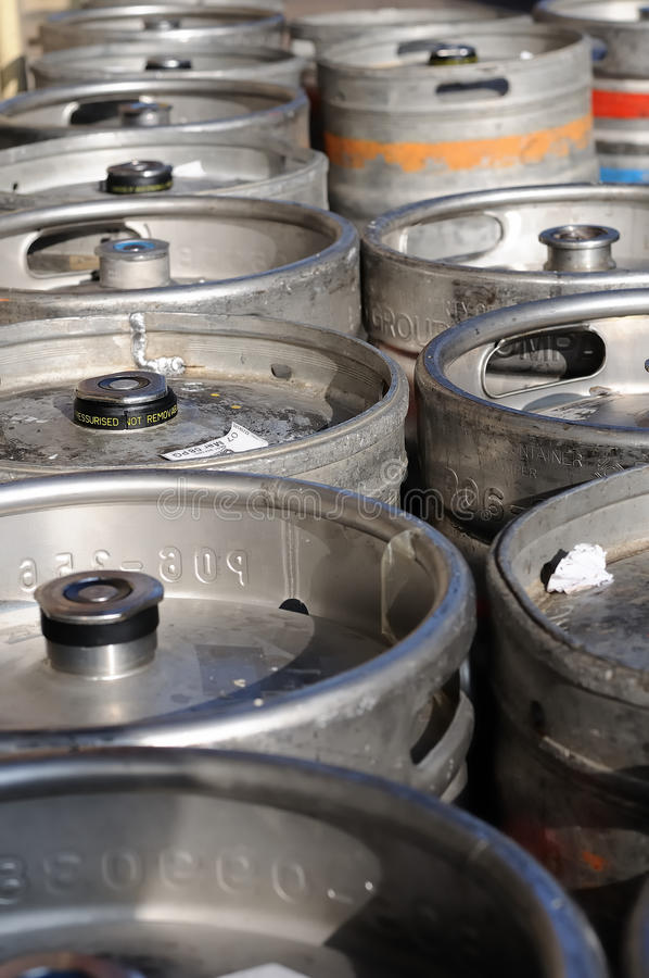Download Beer kegs stock image. Image of delivery, stack, gray - 18087831