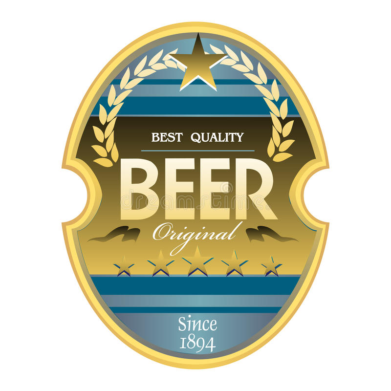 Beer Label Royalty Free Stock Image