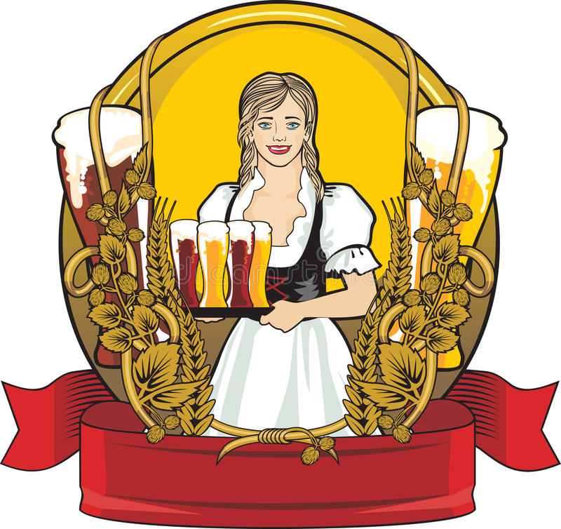 Download Beer label, beer festival stock vector. Image of girl - 21493949