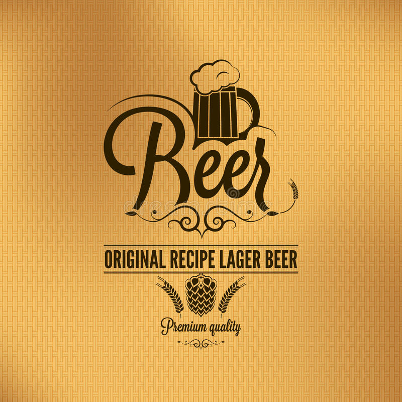 Free Beer Lager Vintage Background Stock Photo - 34058200