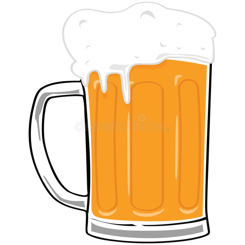 Download Beer mug stock vector. Image of beverage, illustration - 15271514