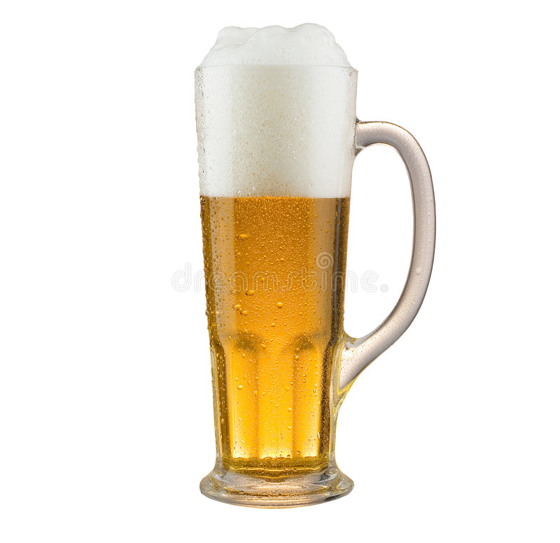 Beer mug. Objects on white stock images
