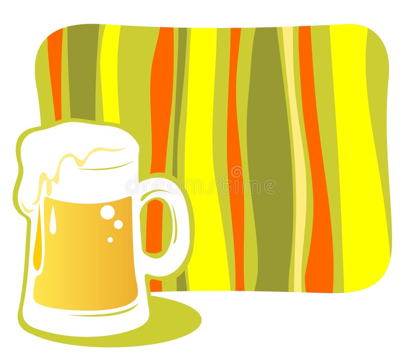 Beer mug royalty free illustration