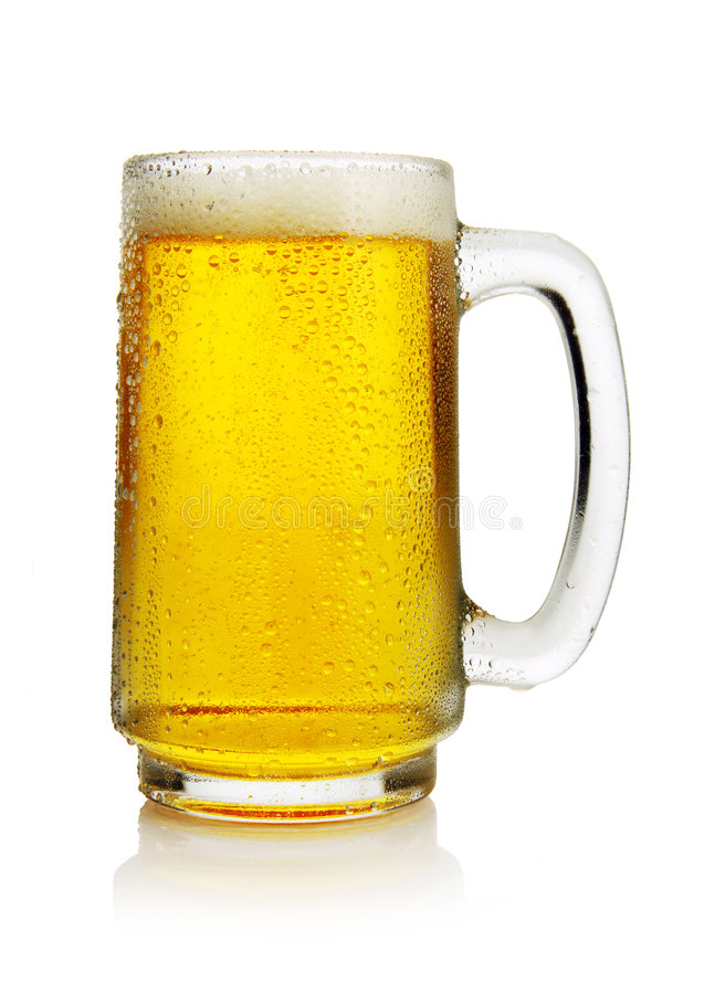 Beer in mug stock photo