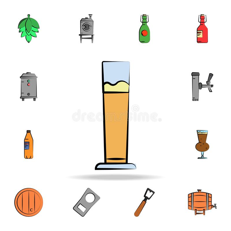 Beer mug colored sketch style icon. Detailed set of color beer in hand drawn style icons. Premium graphic design. One of the. Collection icons for websites, web royalty free illustration