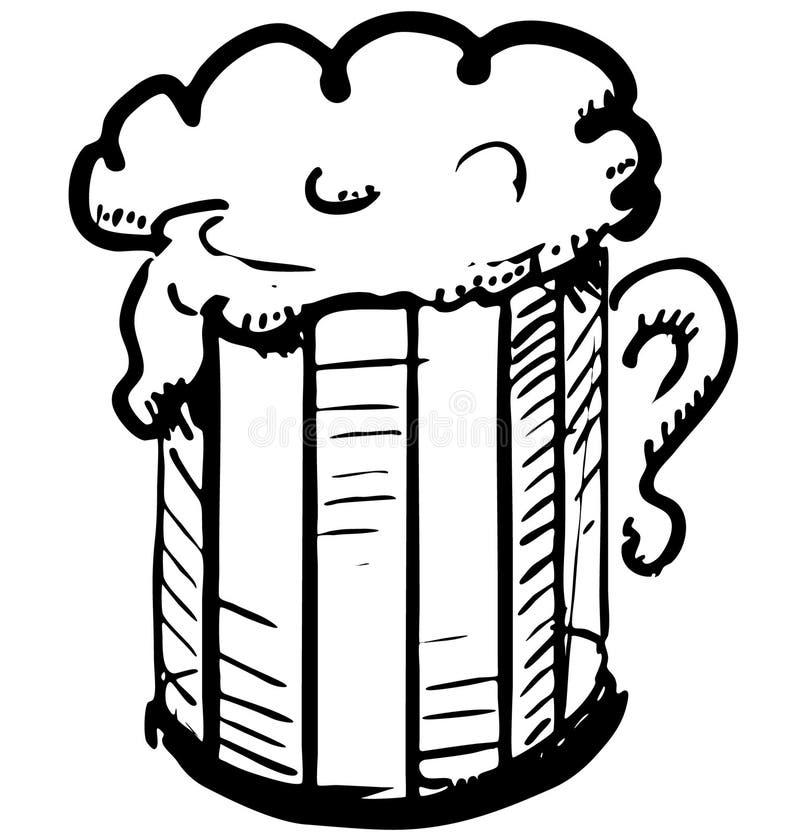 Download Beer in mug stock vector. Image of foam, cold, rest, glass - 33305251