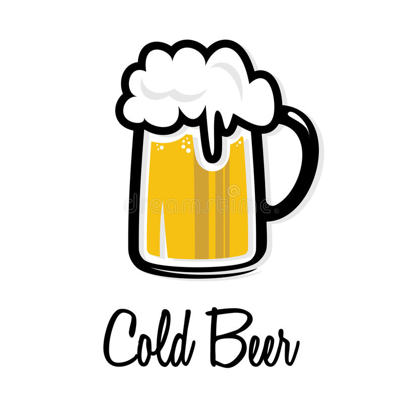 Beer mug icon royalty free illustration