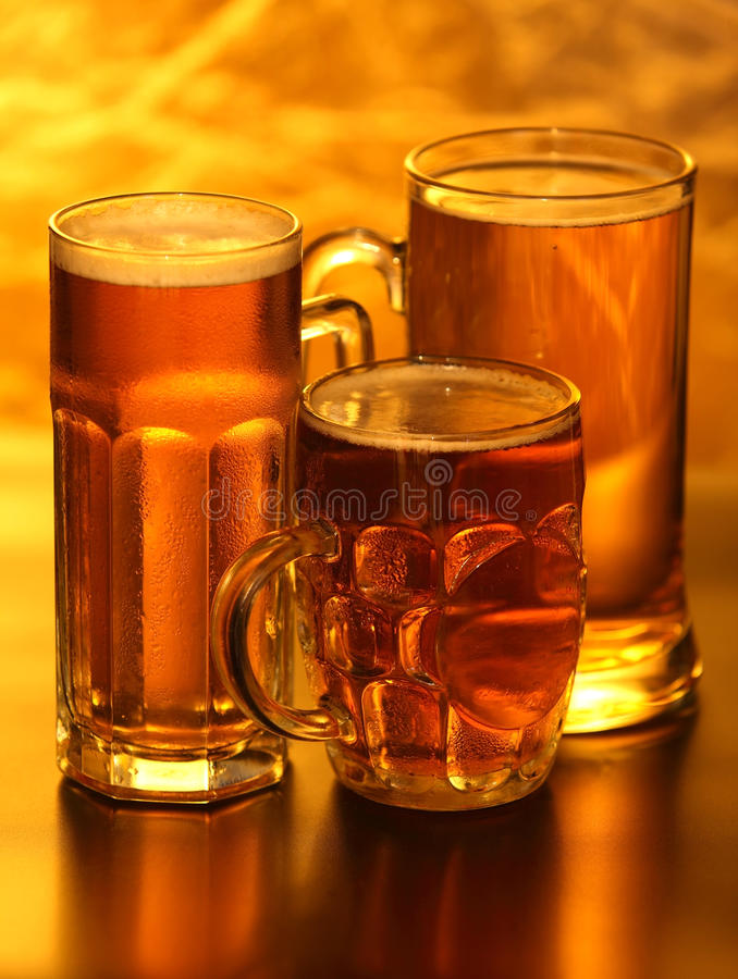 Beer mugs royalty free stock image