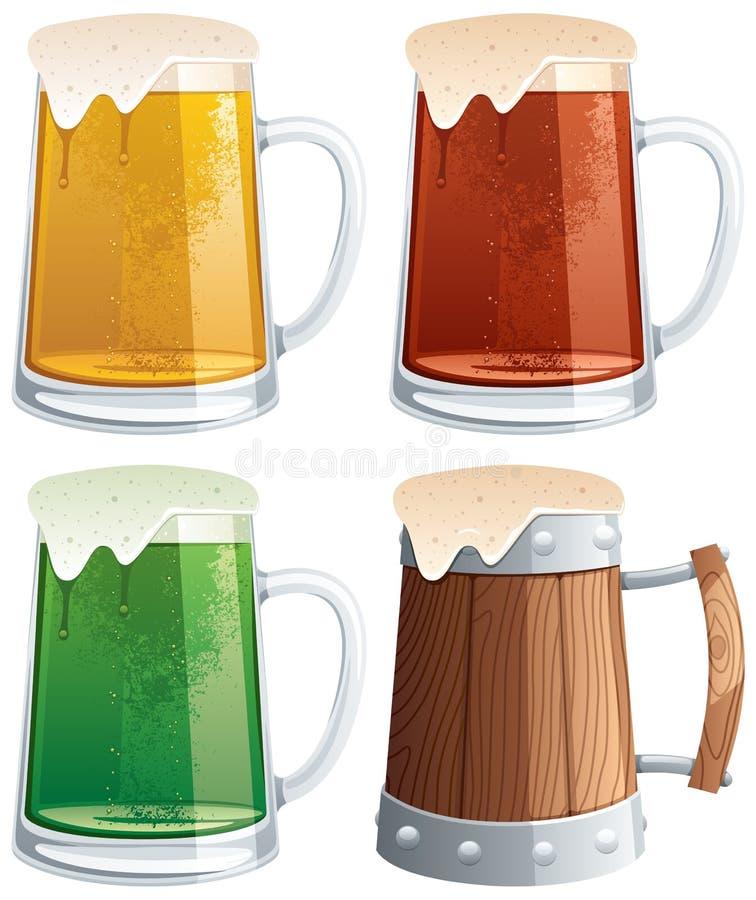 Download Beer Mugs stock vector. Image of closeup, design, full - 22702619